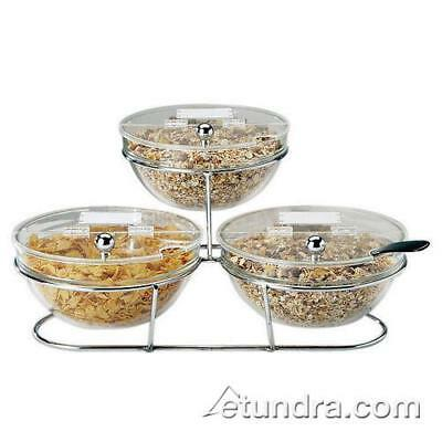World Cuisine - 41442-14 - 3-Compartment Chrome Plated Stand w/Small Bowls
