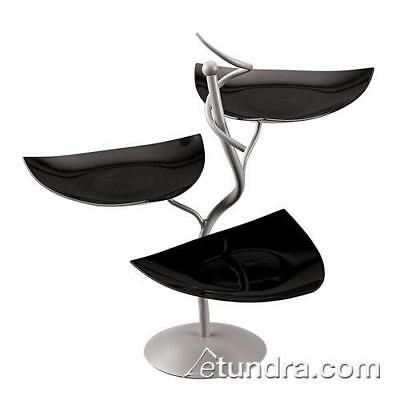 World Cuisine - 41868K05 - 3-Tier Display Stand w/Black Scoop Dishes