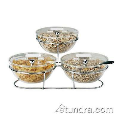 World Cuisine - 41442-23 - 3-Compartment Chrome Plated Stand w/Large Bowls