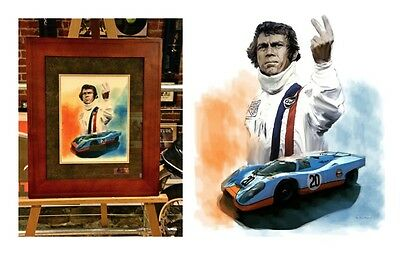 STEVE McQUEEN ARTIST ORIGINAL Gallery Matted and Framed Artist Signed