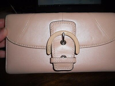 Authentic Coach Light Pink Leather  Wallet