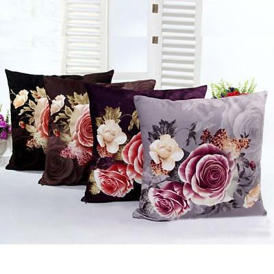 Printing Dyeing Peony Square Sofa Bed Home Decor Pillow Case Cushion Cover Gift