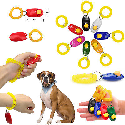 Hot Dog Training Big Button Clicker with Wrist Strap Click And Train Dog Cat Pet
