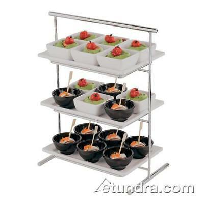 "World Cuisine - 44840-03 - 8 1/4"" x 14 1/2"" 3-Tier Chromed Steel Stand"