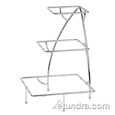 "World Cuisine - 44840-05 - 14 7/8"" x 14 7/8"" 3-Tier Chromed Steel Stand"