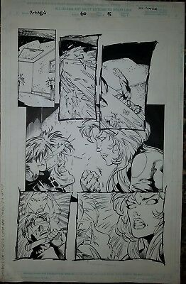 X-MEN, #60, Original Art,  Page 5, Cedric Nocon, Chad Hunt. Jan. 1997.