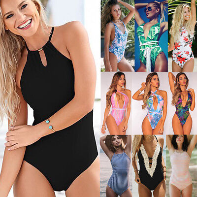 One Piece Bandage Push up Monokini Bikini Women's Swimwear Swimsuit bathing Suit