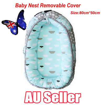Baby Nest Removable Cover Infant Newborn Sleeper Cot Crib Bed 100% Cotton NEW EE