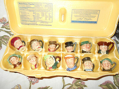 Set of Royal Doulton Character Toby Jug Tinies~All 12 Mint A Dozen All original
