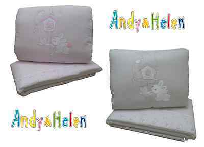 Winter quilt Crib Cot Piumotto Embroidered + Bumpers ANDY & HELEN R08