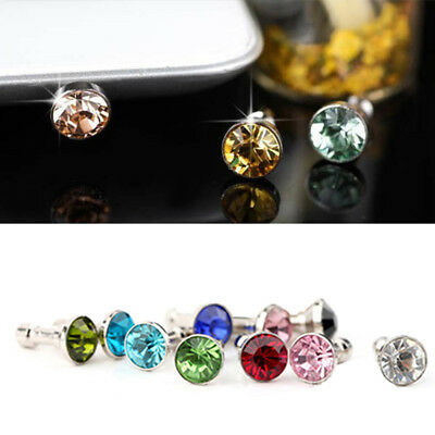 5Pcs Crystal Rhinestone Anti Dust Cap Earphone 3.5mm Jack Plug for Cellphone Hot