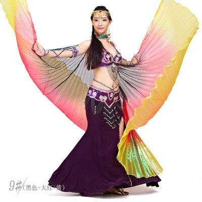 Egyptian Shiny Belly Dance Wings Costume Dancing Fancy Isis Wing Cosplay Costume