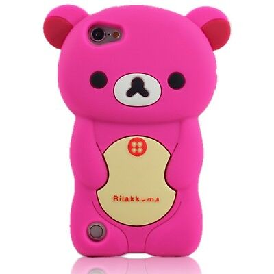 PINK TEDDY BEAR Silicone Back Case, Suits iPod Touch 5, 5th Gen, FREE POSTAGE