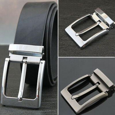 Quality Pin Buckle For Mens Belt Pearl Gun Full Sweep Chrome Color Fit 3.8-3.9cm