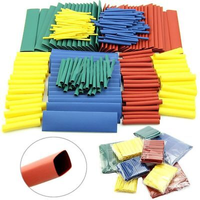 8 Sizes 328/530Pcs Wire Wrap Kit Heat Shrink Tubing Cable Sleeve Assorted 2:1