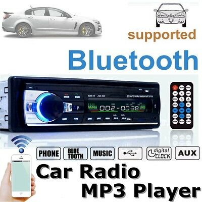 JSD520 12V Car 1 DIN Bluetooth Stereo Radio Audio CD Player MP3 USB SD AUX FM