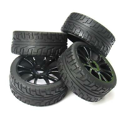 17mm Hub Wheel rubber Rim & Tires Tyre 4pcs for 1/8 Off-Road RC Car Buggy 180043