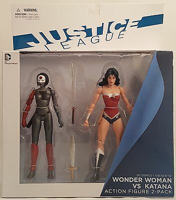 DC Comics The New 52 Justice League WONDER WOMAN VS. KATANA Action Fig 2-Pack