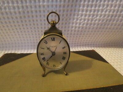 Swiza Sheffield Vintage Swiss Made Hand Painted Travel Alarm Table Clock    D2