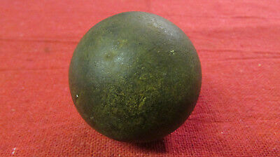 """2"""" Antique Iron Metal Cannon Ball Military Weapons Collectible original rare!"""