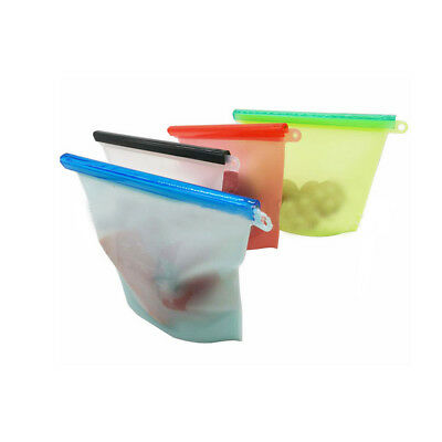 Reusable Silicone Food Sealer Bags Wrap Fridge Food Fresh Keeping Containers GN