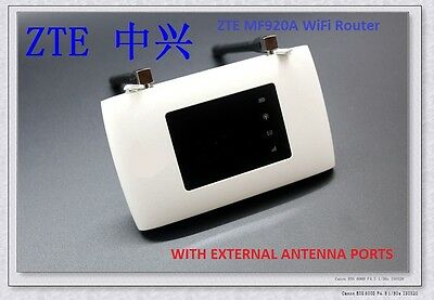 ZTE MF920A POCKET Hotspot 150Mbps LTE 4G 3G Router Modem WiFi WLAN UNLOCKED