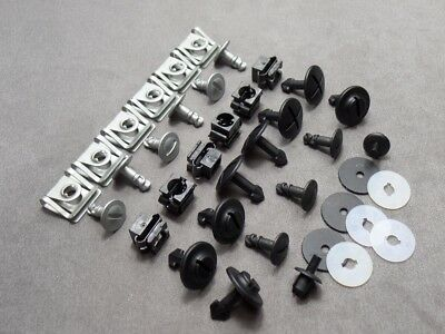 1 Set Skid Plate Installation Kit Underbody Motor Clips for Audi A4 A6 A8