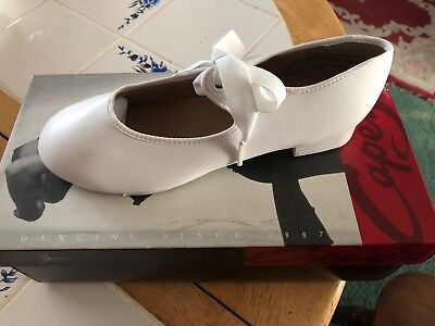 New Capezio Tap Shoes #625 Mary Jane in White SIZE 5.5 BRAND NEW IN BOX