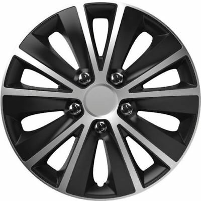 15'' Inch Car Van Rapide Nc Wheel Trims Covers Hub Caps X4 Silver / Black