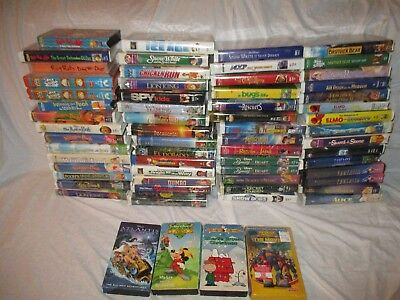 Walt Disney Vhs Tapes Movies Classics Collection Home Videos