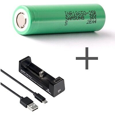 Samsung Li-ion Battery HP SDI INR18650-25R -2500mah+XTAR Ant MC1plus Charger