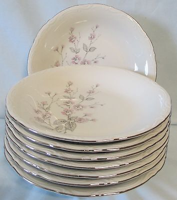 Mitterteich Fragrance Soup or Salad Bowl Platinum Trim set of 8