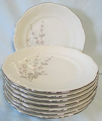 Mitterteich Fragrance Salad Plate Platinum Trim set of 8