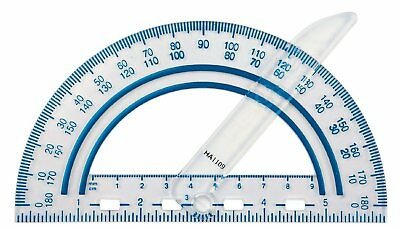 Plastic Protractor Swing Arm Angle Finder Measuring Ruler Tool - Random Color