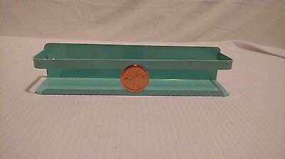 Vintage Metal Dor-File Spice Rack, teal color