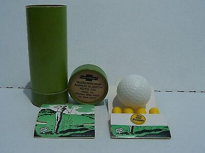 Vintage 50's/60's Ammon R. Smith Chevrolet Golf Balls & Golf Tees from York PA