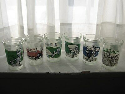 6 Welch's Looney Tunes 1994 JELLY JAR #1 #3 #7 #9 #11 #12