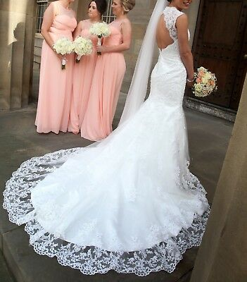 VIVA BRIDE MIMOSA Vintage Lace Fishtail Wedding Dress ,UK Size 8 ...