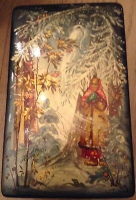 4 Russian Lacquer Hand Painted Boxes