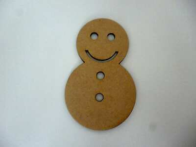 Wooden Christmas Snowman bauble craft blank Xmas tag decoration CFE170