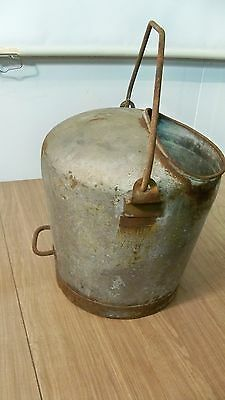 Vintage Cream City Covered 5 GAL Milk Pail Or Bucket With Bail Handle Old Farm