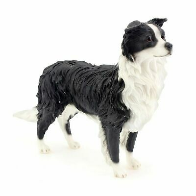 Black and White Border Collie Sheep Dog Ornament/Figurine.Leonardo.Gift Boxed