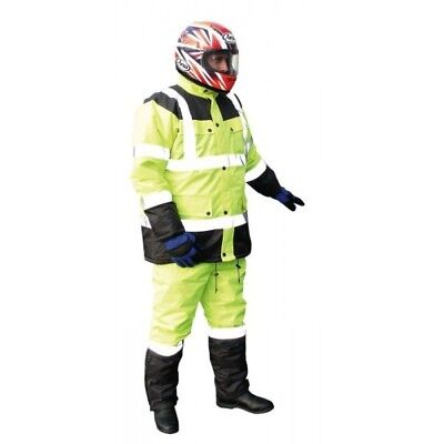 Bike-It Motorcycle Bike Workmen Workshop Reflective Hi-Vis Over Jacket - Medium