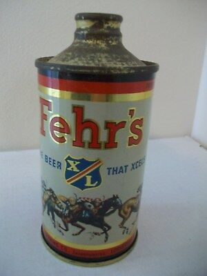 1940s Fehr's J Spout Cone Top Beer Can  Louisville, Kentucky
