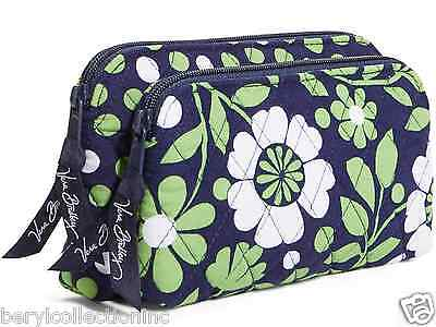 NWT Vera Bradley Double Zip Cosmetic Bag in Lucky You 14237 203 BE