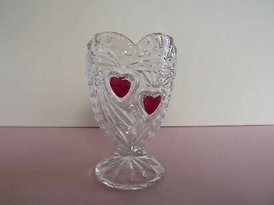Anna Hutte Heart Shaped Lead Crystal Glass Vase - Germany (72.253)