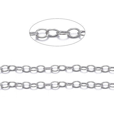 10m/roll Unsoldered Platinum Color Brass Cross Chains For Jewelry Link 4x3x0.6mm