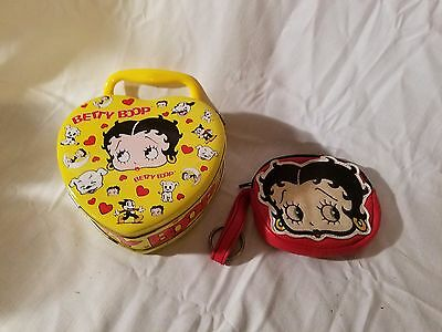 Vintage 1999 King Features Betty Boop Tin Purse and Vintage Change purse