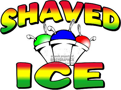 Shaved Ice Cups Vinyl Decal (Choose Your Size) Concession Stands Boardwalk Shops