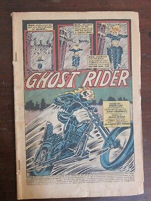Marvel Spotlight #5 - first appearance of motorcycle Ghost Rider - coverless